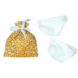 Set of 2 Doll's Nappies - Yellow Pouch