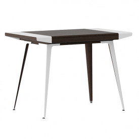 Ambitions Desk - Dark Oak / White