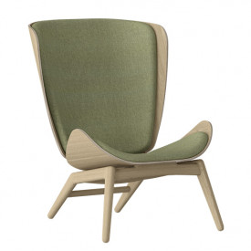 The Reader Wing Chair - Oak / Spring Green