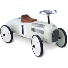 Vintage Kids Ride on Toy Car - Cream