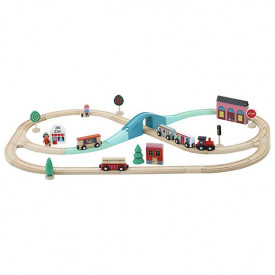 Wooden Train Circuit Grand Express