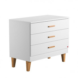 3 Drawers Dresser Lounge - White