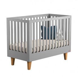 Crib 70 x 140 cm Lounge - Light Grey