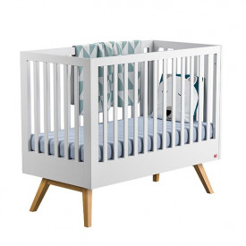 Crib 70 x 140 cm Nature - White