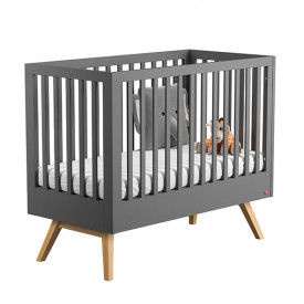 Crib 70 x 140 cm Nature - Anthracite