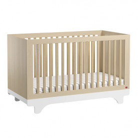 Crib 70 x 140 cm Playwood - Birch / White