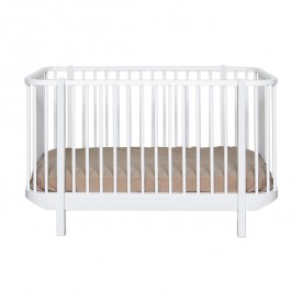 Wood Convertible Cot Bed - White