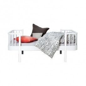 Wood Convertible Junior Bed - White