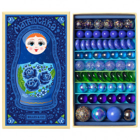 Box of 61 marbles - Matriochka Yelena