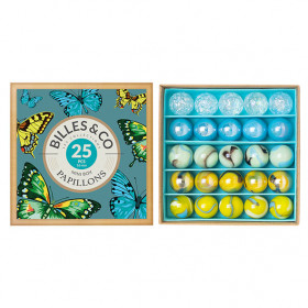 Box of 25 marbles - Papillons
