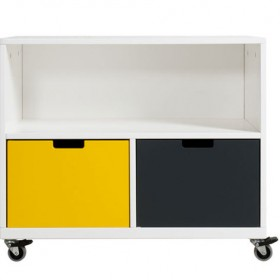 Cabinet on Wheels June Mix & Match - White
