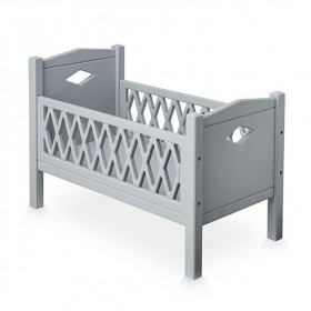 Doll's bed Harlequin - Grey
