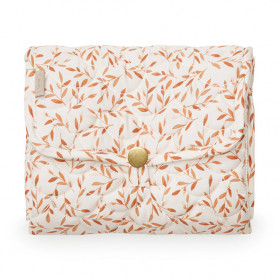 Travel Changing Mat - Quilted - Caramel Leaves