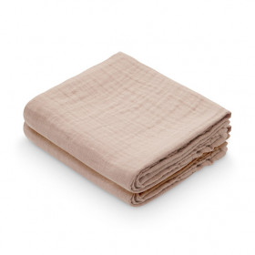 Set of 2 Muslin Cloths - Dusty Rose