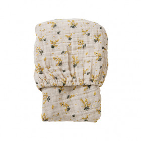 Muslin Fitted Sheet 60x120 - Mimosa