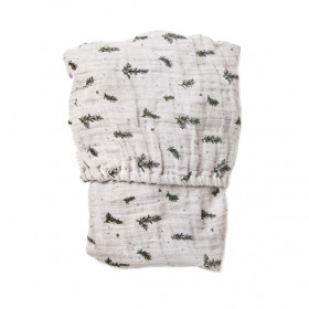 Muslin Fitted Sheet 60x120 - Rosemary