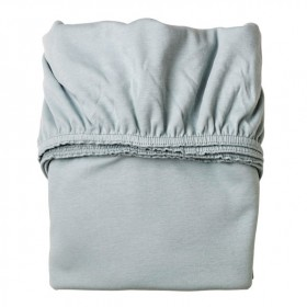 Set of 2 fitted sheets 60x120cm - Misty Blue