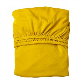 Set of 2 fitted sheets 60x120cm - Spicy Yellow