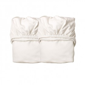 Set of 2 fitted sheets for cradle - White