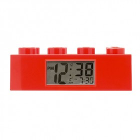 Lego Brick Alarm Clock - Red