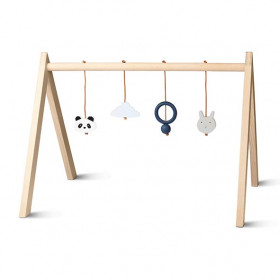 Wooden Play Gym - Mix Blue