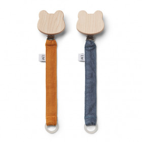 Barry pacifiers straps 2 pack - Mustard