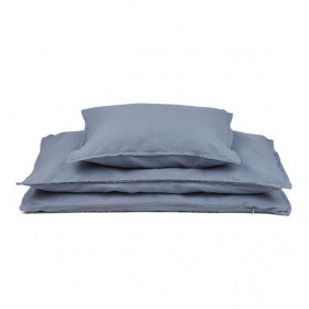 Cotton / Linen Bedding 140 x 200 - Blue Wave