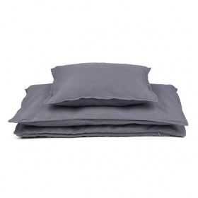 Cotton / Linen Bedding 140 x 200 - Storm Grey