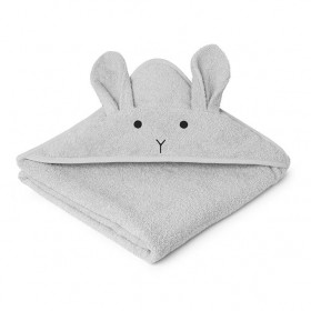 Kids Towel Hooded Rabbit - Grey
