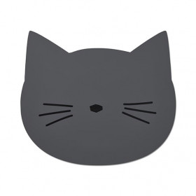 Silicone Placemat Cat - Dark Grey