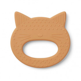 Silicone Teether Cat - Mustard