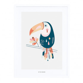 Framed Art Print Pastel Toucan (30x40cm)