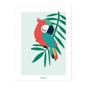 Art Print Tropical Parrot Green (30x40cm)