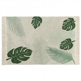 Plants Rug 140 x 200cm - Tropical Green