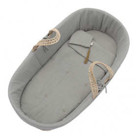 Moses Basket Bed Linen - Silver Grey