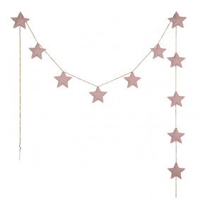 Mini Star Garland - Dusty Pink