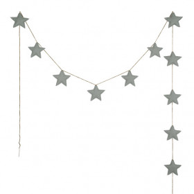 Mini Star Garland - Silver Grey