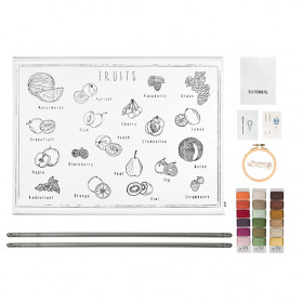 School Poster Kit Fruits Canvas