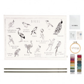 School Poster Kit Birds Canvas