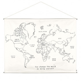 World Map Poster Kit Canvas