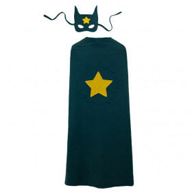 Super Hero Cape and Mask - One Size - Teal Blue