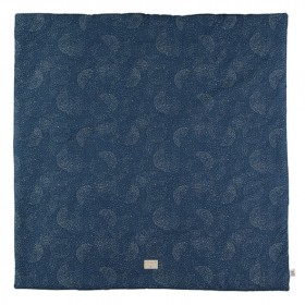Square rug Colorado Bubble - Elements - Night blue / Gold
