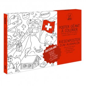 Giant Coloring Poster - Switzerland