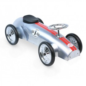 Vintage Kids Ride on Toy Car - Silver