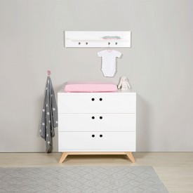 Dresser with 3 drawers Lynn White Bopita