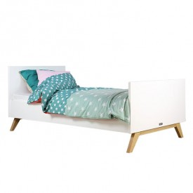 Single Bed Lynn 90 x 200 cm White Bopita