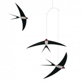 Flying Swallows Mobile  Black Flensted