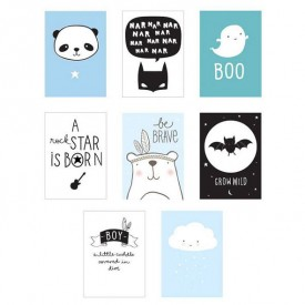 Lightbox Poster sheets: little boy Blue A Little Lovely Company