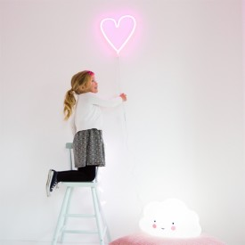 Neon Style Light Heart - Pink Pink A Little Lovely Company
