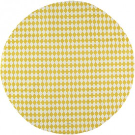 Round Rug Apache - Honey Diamonds Yellow Nobodinoz